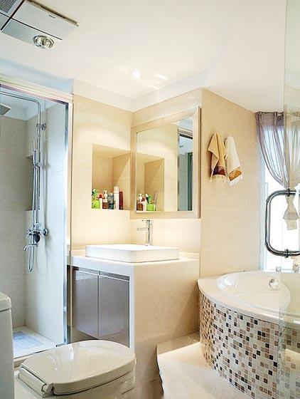 卫生间浴缸摆放平面图