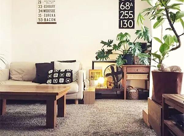 日式风格客厅地毯效果图