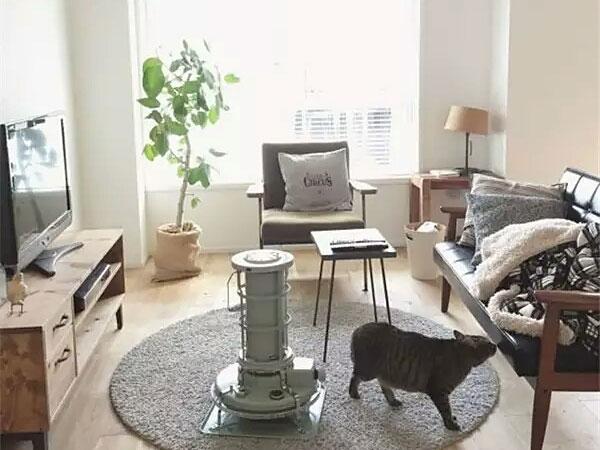 日式风格客厅木质地板装修