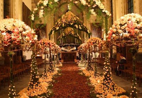 婚庆布置效果图 不同场地的婚礼现场布置