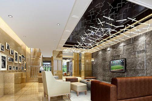 石膏吊顶装修效果图 简约客厅也显美观大方