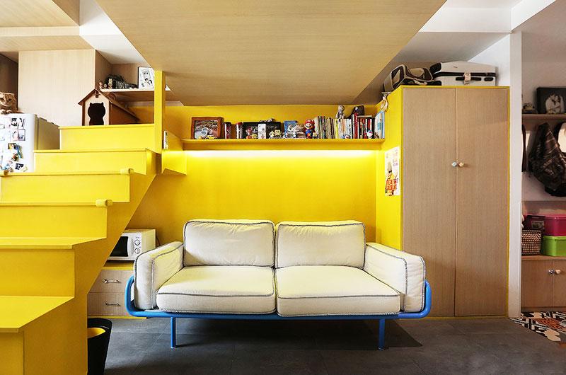 35平小户型loft风格装修