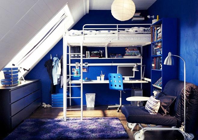 单身公寓沙发床效果图
