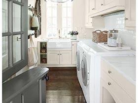 主妇贴心小空间  10款家居洗衣房参考图