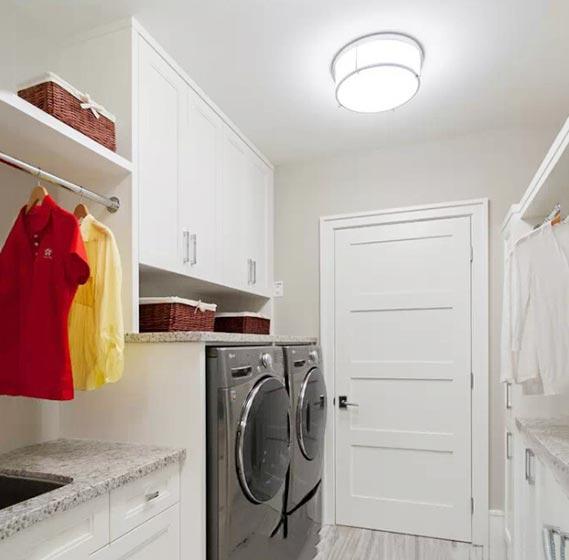 白色系洗衣房图片大全