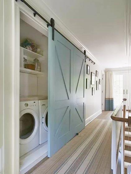 洗衣房收纳柜布置摆放图