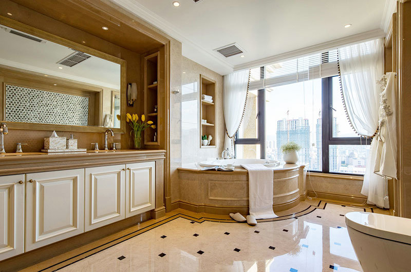 唯美浪漫美式卫生间装修