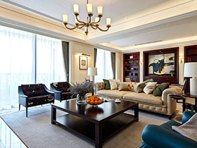 舒适休闲美式 高层复式楼豪宅设计