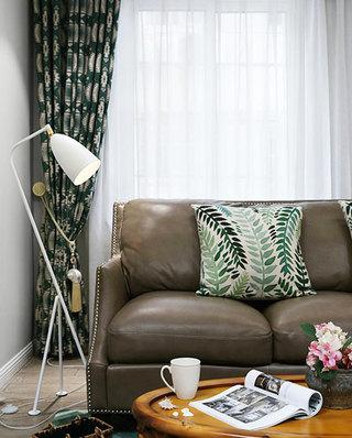 美式老房改造装修真皮沙发图片