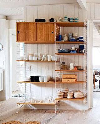 厨房简洁置物架设计装修
