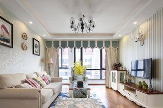 104平美式风格三室两厅装修图