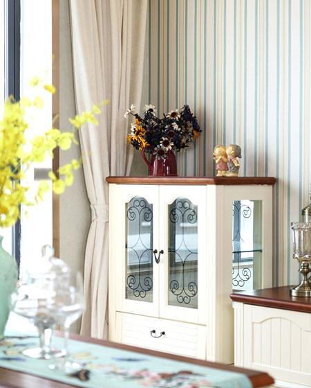 104平美式小三室装修壁纸图片