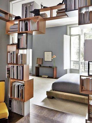 隔断书架设计图片