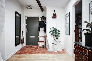 北欧风格两室两厅装修玄关瓷砖图片
