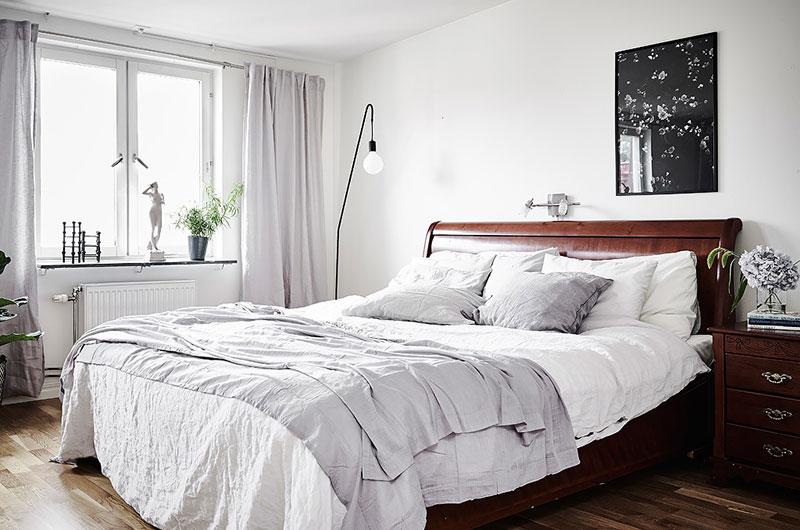 北欧风格两室两厅装修主卧室设计