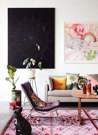 客厅小花毯装修装饰效果图