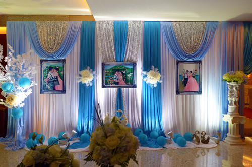 婚庆背景布置 婚礼现场布置效果图