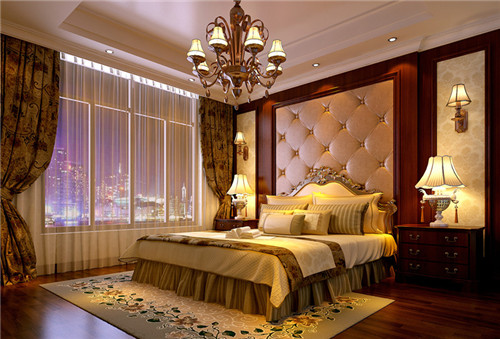欧式卧室窗帘效果图 用心设计营造奢华卧房
