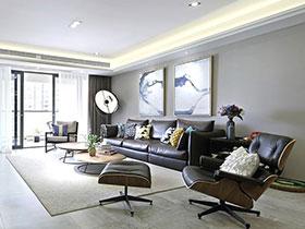 128平现代欧美风混搭 三居美宅欣赏