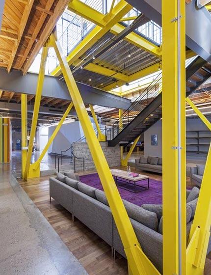 暖色系美式工业风 LOFT公寓客厅效果图
