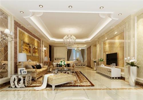 简欧风格客厅效果图 让品质生活与我们相伴