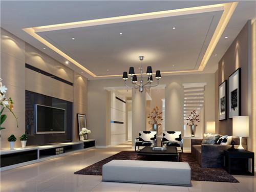 简约客厅吊顶装修效果图 高颜值客厅少不了它