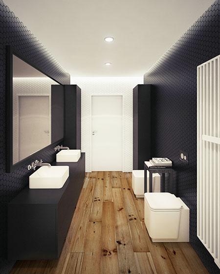 休闲美式loft卫生间设计鉴赏