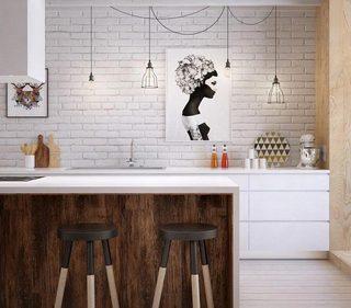 北欧风厨房设计平面图