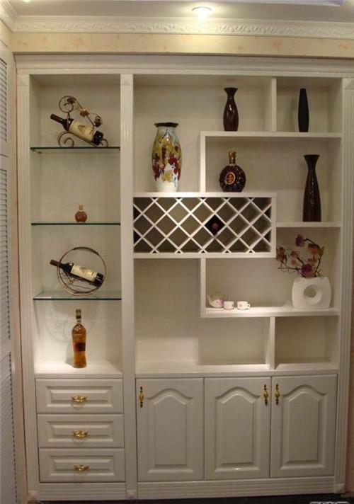鞋柜带酒柜效果图 持家有道小户型必备鞋柜酒柜
