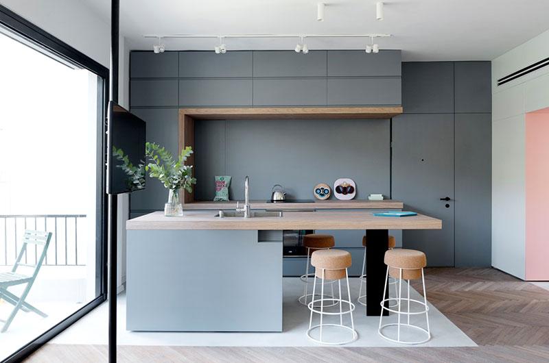 55平小户型两居室厨房装修图片