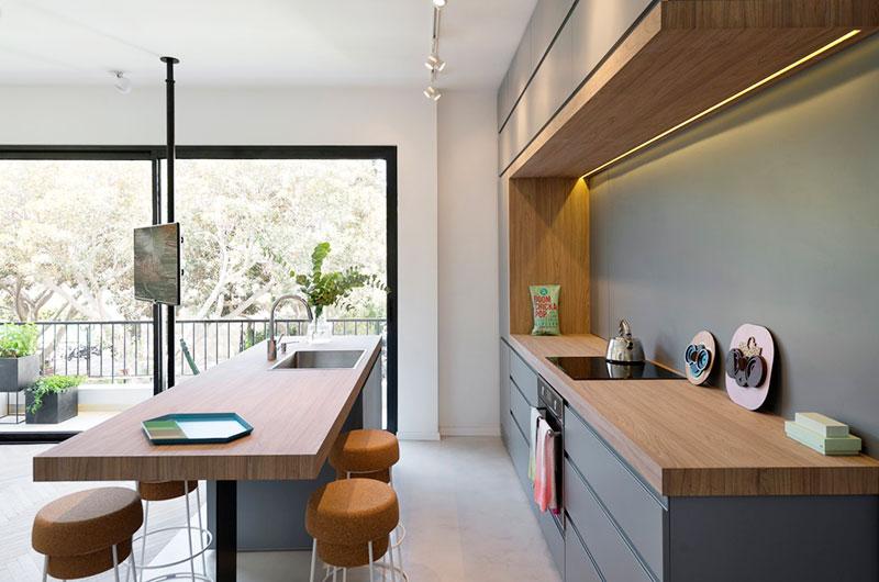 55平小户型两居室厨房吧台装修