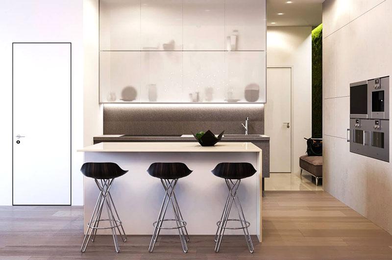 简约阁楼公寓装修吧台装修设计