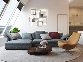 简约风格顶层阁楼装修效果图 质感大气