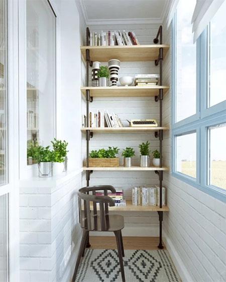 阳台实用书架收纳图片