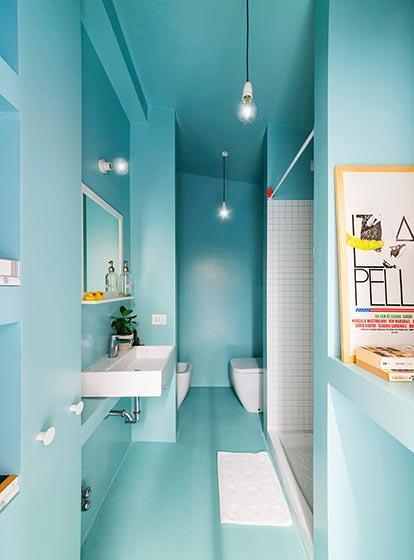 蓝色卫生间设计图片大全