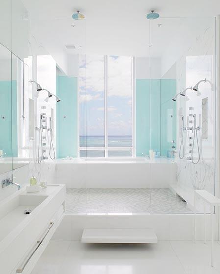白色系卫生间设计构造图