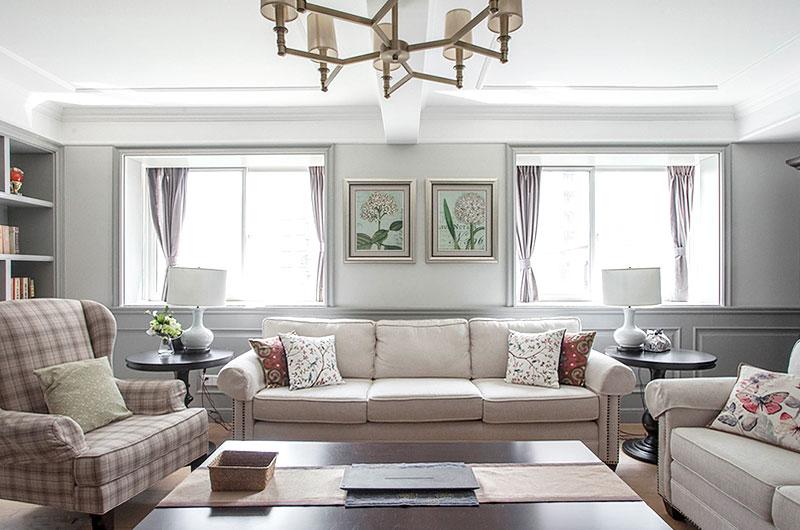 清新美式客厅窗户设计