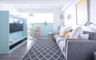 76平小三室装修客厅效果图