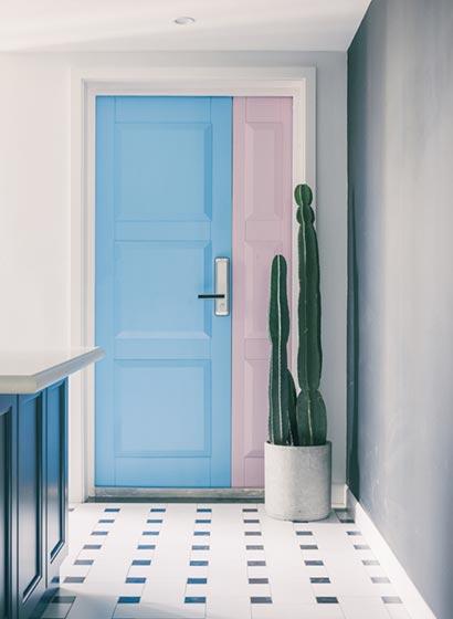 北欧风格厨房门设计图片