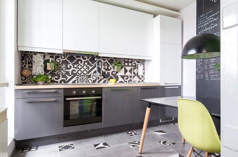 42平一居室装修厨房瓷砖效果图