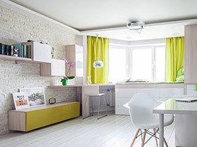 42平一居室小户型装修图 清新色调更清爽