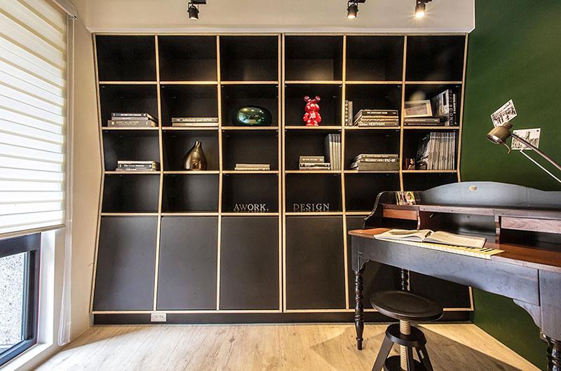 99平二居室装修书柜装修图