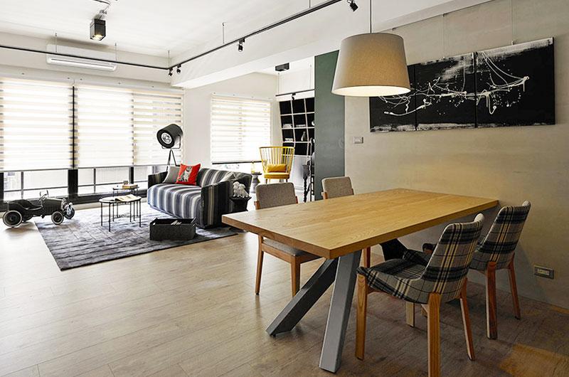 99平二居室装修餐厅效果图设计