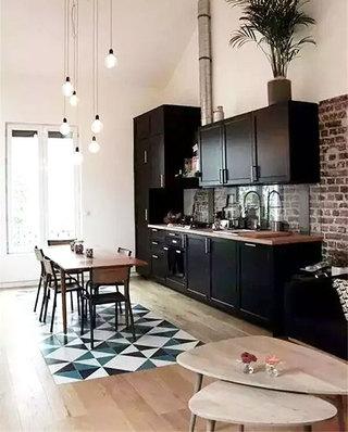 瓷砖木质混搭装修餐厅地板效果图设计