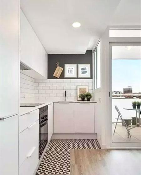 瓷砖木质混搭装修厨房地板效果图大全