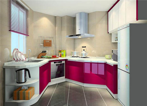 小户型开放式厨房装修效果图 4平米小厨房设计方案