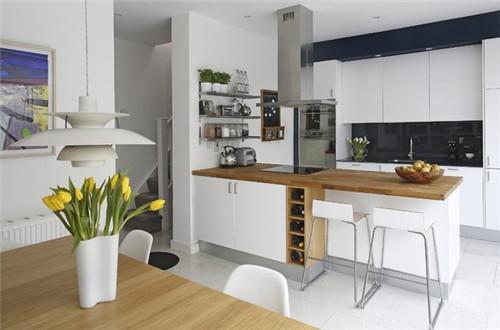小户型开放式厨房装修效果图 4平米小厨房设计方案图片