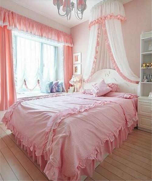子效果�_女孩子卧室装修效果图 单身白领如何装出少女房