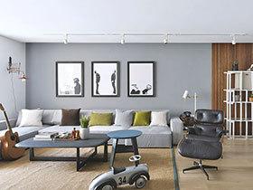 160平现代简约风格公寓效果图 私人订制