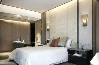 118平一室一厅装修卧室壁灯设计